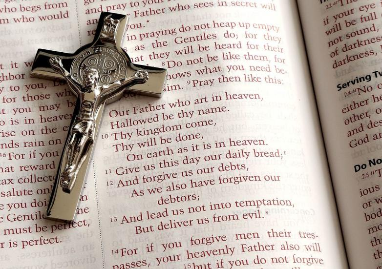 Lord's_Prayer_and_a_crucifix