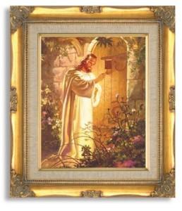 Christ at Heart's Door http://www.amazon.com/Sallman-Christ-at-Hearts-Door/dp/B000PS2E8I