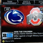 Last year's NCAA videogame included this unfortunate name for a Penn State game