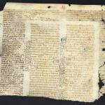 Glossed medieval manuscript.