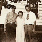 My father and his parent, 1942