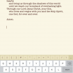Text highlighted in the Universalis app is turned into a document with one tap.