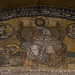Emperor Leo VI kneels before Christ (Hagia Sofia)