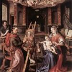 St. Luke Painting the Virgin Mary, 1602, Marten de Vos