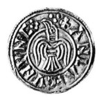 Guthfrithsson penny with bird symbol.