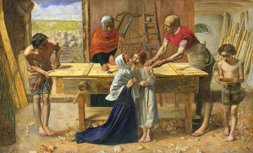 1024px-John_Everett_Millais_-_Christ_in_the_House_of_His_Parents_(`The_Carpenter's_Shop')_-_Google_Art_Project