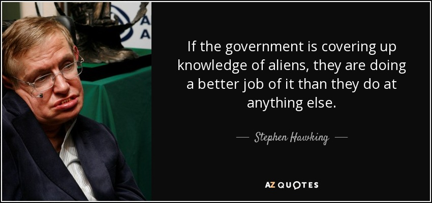 Quotes by Stephen Hawking Alien