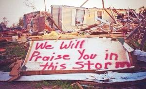 praising god in the storm
