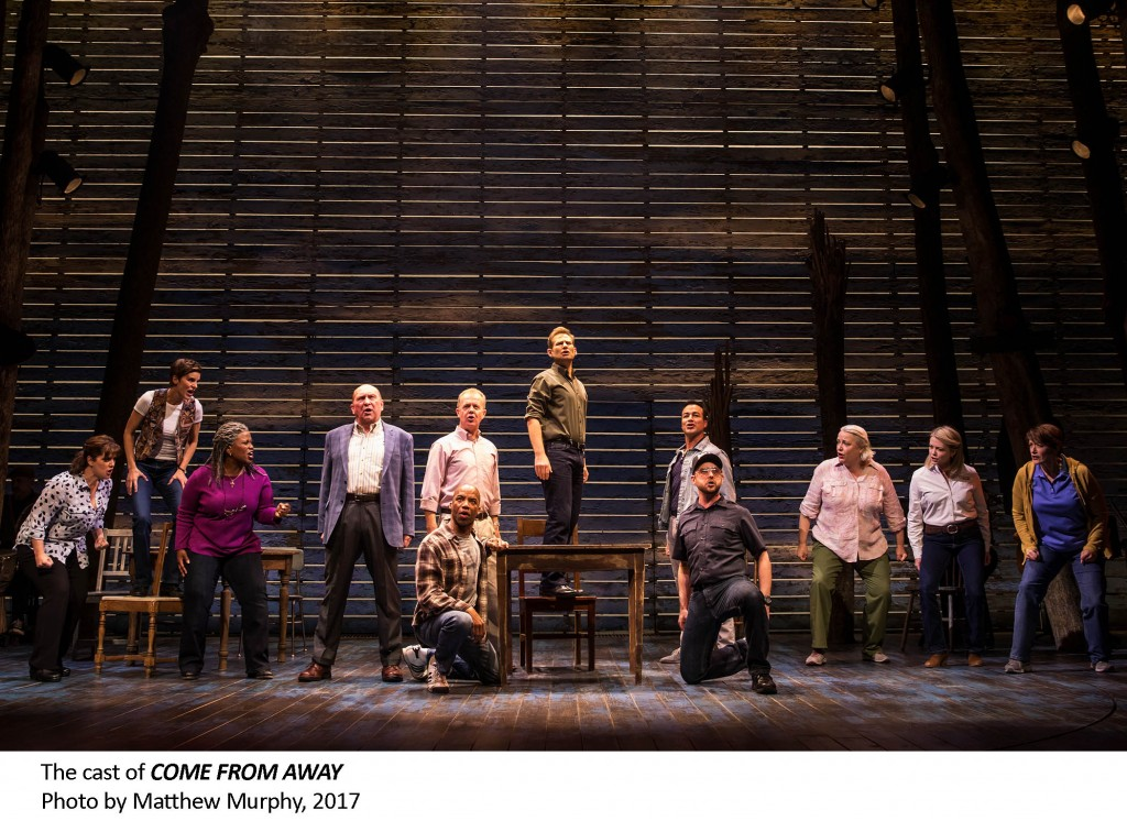 The cast of COME FROM AWAY, photo by Matthew Murphy, 2017