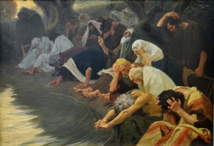 By the Rivers of Babylon by Gebhard Fugel. 1920.