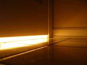 Light underneathe door