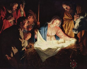 Gerard van Honthorst Adoration of the Shepherds via wikimedia public domain