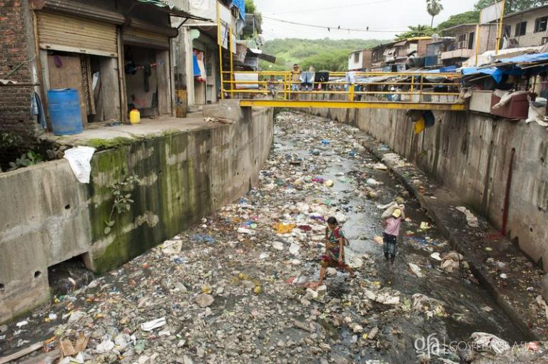 slums in Asia, lacking facilities like toilets and proper drainage - KP Yohannan - Gospel for Asia