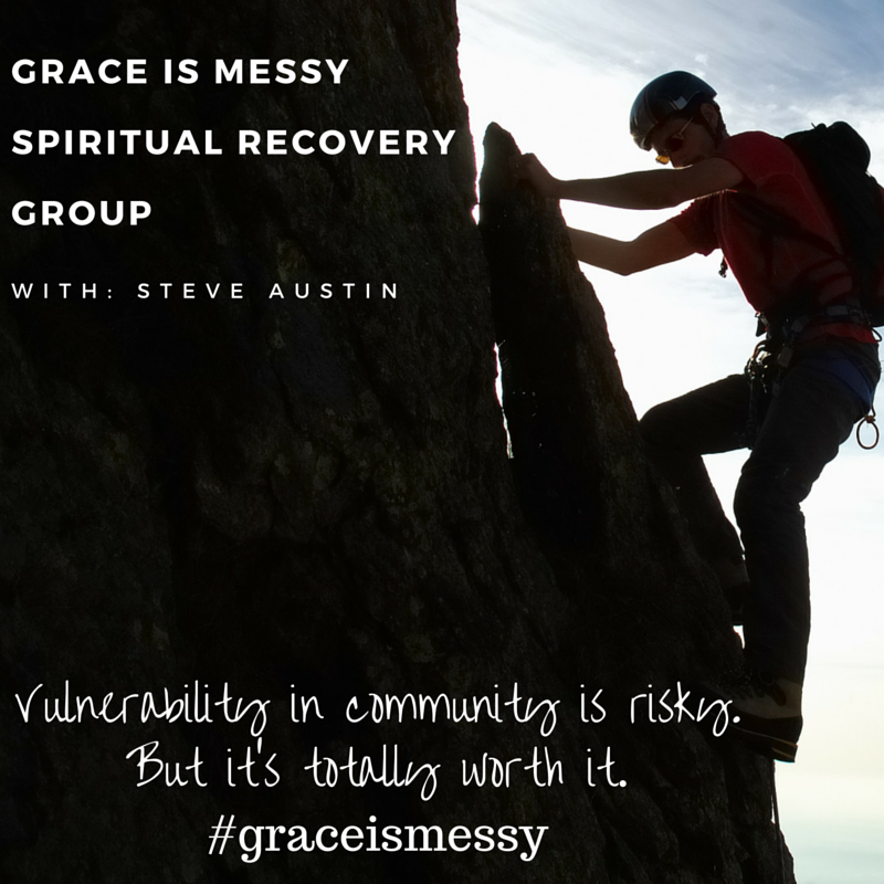 Vulnerability in community is risky. But it's totally worth it. Join the Grace is Messy Religious and Spiritual Recovery Group today!