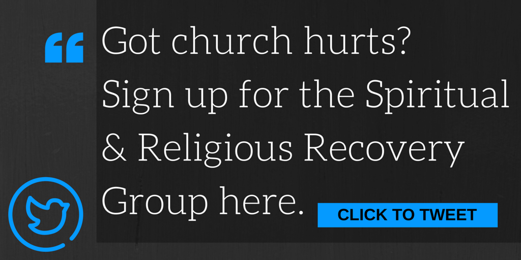 Got church hurts? Sign up for the spiritual and religious recovery group today!