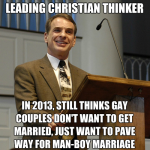 "Craig: gay marriage is ""really odd"" because ""homosexuals typically don't have lasting partnerships"""