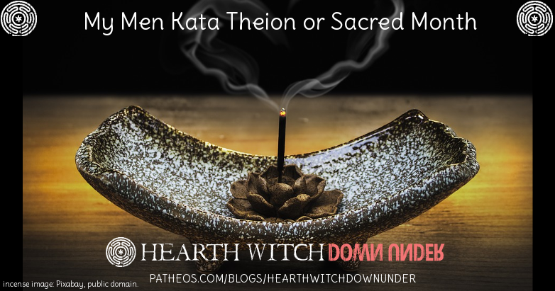 The Men Kata Theion is the Hellenic sacred month, and this November I begin my own adapted version.
