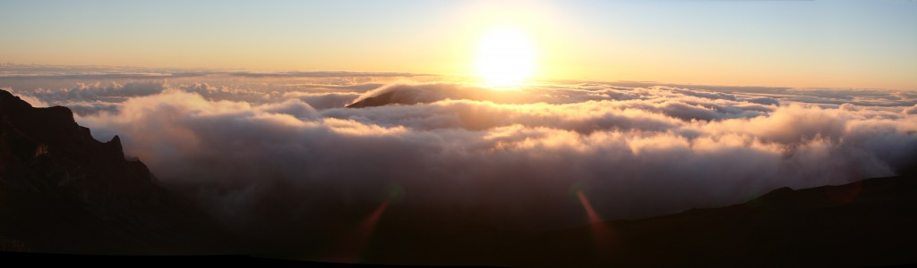 Sunrise over Haleakala photo by Ewen Roberts via creative commons license