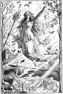 Ostara by Johannes Gehrts, 1884