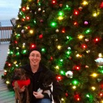 Rev. Carl Gregg and hi Christmas pups!