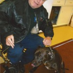 James Sak and his service dog, Snickers. (Photo courtesy Animal Farm Foundation)