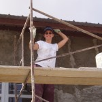 That's me in 2005, up on scaffolding plastering walls at a school in Mexico. I had so much fun in 2004, I went back the next year!