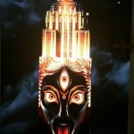 """Image of Hindu Goddess of Death Kali from """"Projecting Change"""" Light show; image designed by artist Android Jones (https://www.facebook.com/AndroidJonesart)"""