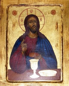 Icon of Jesus at the Mystical Supper. Photograph by Henry Karlson