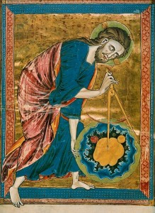 God as Architect/Builder/Geometer/Craftsman, The Frontispiece of Bible Moralisee By Anonymous (archiv.onb.ac.at), via Wikimedia Commons [Public domain]