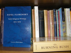Florensky''s book on a shelf. Photo by Henry Karlson