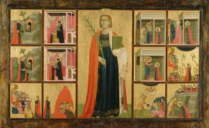 Donato_d'Arezzo,_Gregorio_d'Arezzo_-_Saint_Catherine_of_Alexandria_and_Twelve_Scenes_from_Her_Life_-_73.PB.69_-_J._Paul_Getty_Museum