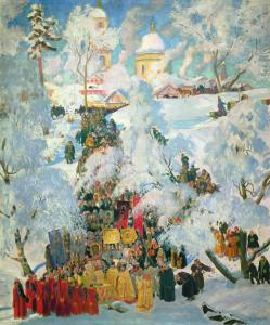 The_consecration_of_water_on_the_Theophany._Kustodiev
