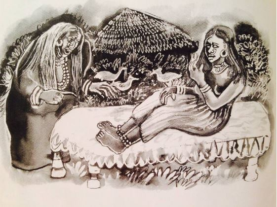 Zainab and the Witch, from the book Tales from Sudan by Denys Johnson-Davies Illustration by Mahmoud Seif Al-Islam
