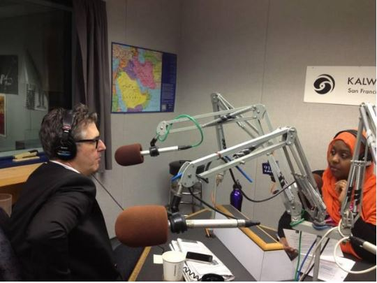 Hana interviewing Ira Glass of This American LIfe for KALW Credit: Hana Baba