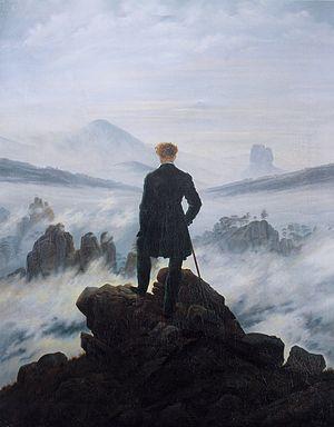 Caspar David Friedrich, Wanderer above the Sea of Fog (Wikimedia Commons Image)