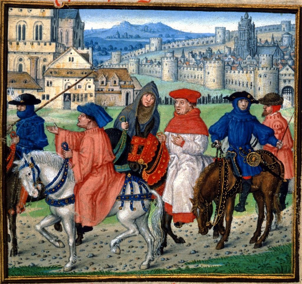 Pilgrims traveling to Canterbury in England (WIkimedia Commons image)