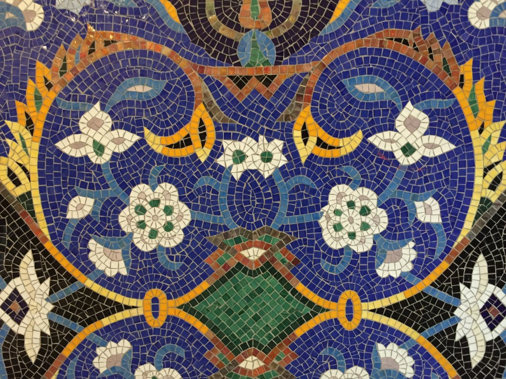 loved the intricate mosaics at the Arab American National Museum. (Bob Sessions photo)