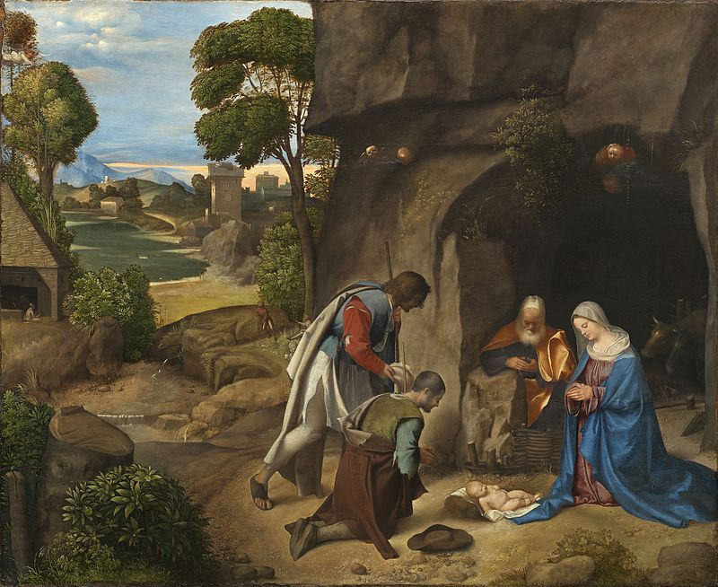 Adoration of the Shepherds by Giorgione, 1510 (Public domain image)