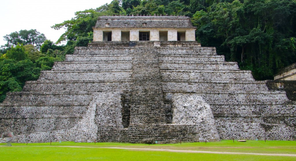 The Temple of the Inscriptions at Palenque is one of the masterpieces of Mayan architecture. (Bob Sessions photo)
