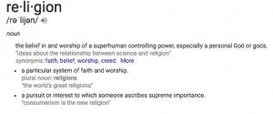 'define religion'