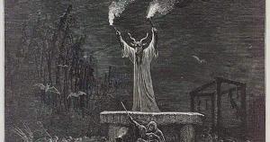 "Image Source: La Danse Du Sabbat, Paul Christian ""History of Magic"", Paris, 1870 via wikimedia"