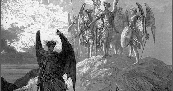 When you get right down to it, I just think he's the good guy. Source: Gustave Doré, 1866, Public Domain