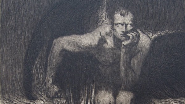 "Etching of ""Luzifer"" by Franz Stuck"