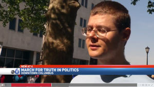 Interview about the Pro-Truth Pledge at the March for Truth in Columbus (Gleb Tsipursky, used with permission)