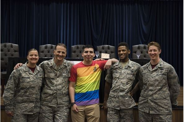Caption: Photo from Incirlik Air Base Lesbian, Gay, Bisexual and Transgender committee (Courtesy of Airman 1st Class Kristan Campbell)