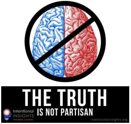 Caption: Image highlighting that the truth is not partisan (Created by Lexie Holliday for Intentional Insights)