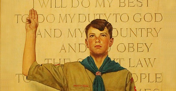 Iconic scout, by Norman Rockwell