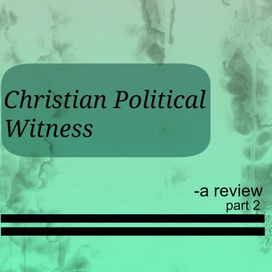Christian Political Witness (Part 2)