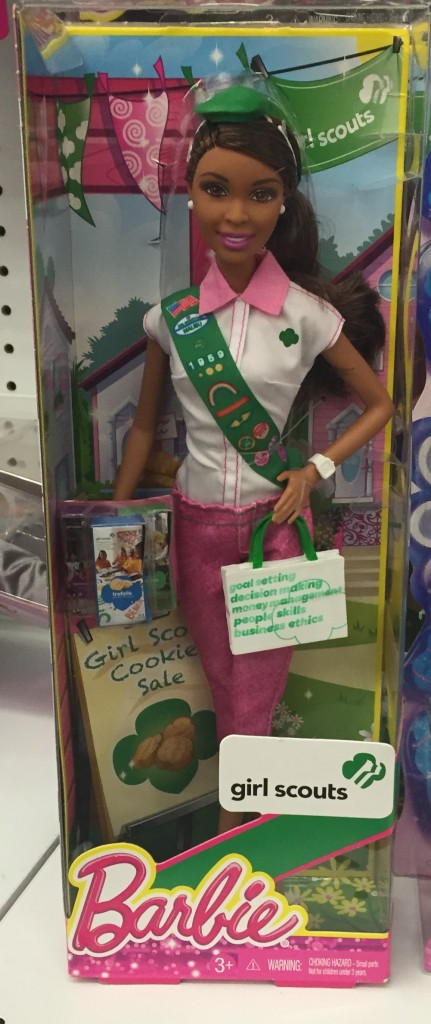 girl scout barbie - front