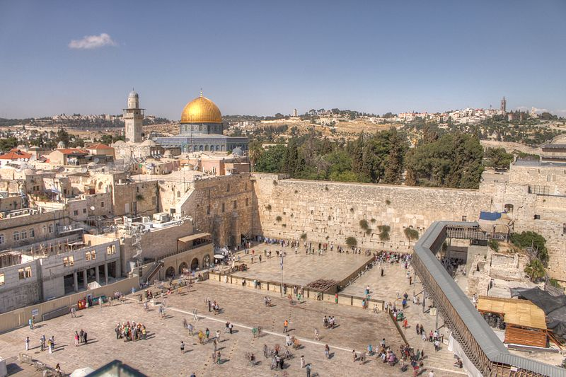 https://commons.wikimedia.org/wiki/File%3AThe_Western_Wall_and_Dome_of_the_rock_in_the_old_city_of_Jerusalem.jpg; By Yourway-to-israel (Own work) [CC BY-SA 3.0 (http://creativecommons.org/licenses/by-sa/3.0)], via Wikimedia Commons